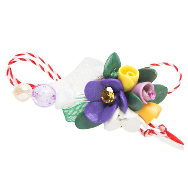 Martisor brosa buchet flori, Miidefloriart, model 82