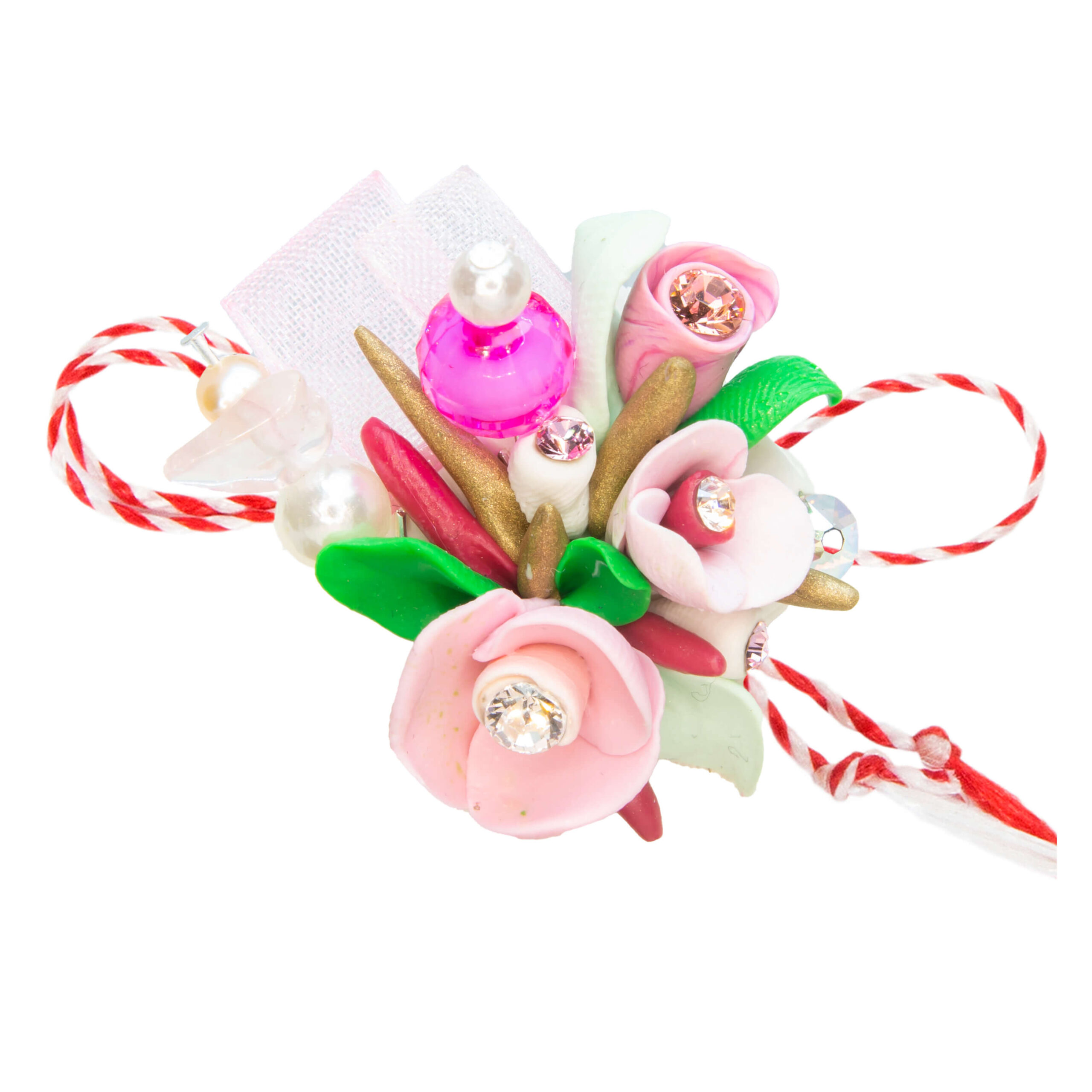 Martisor brosa buchet flori, Miidefloriart, model 70