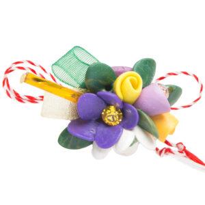 Martisor brosa buchet flori, Miidefloriart, model 80