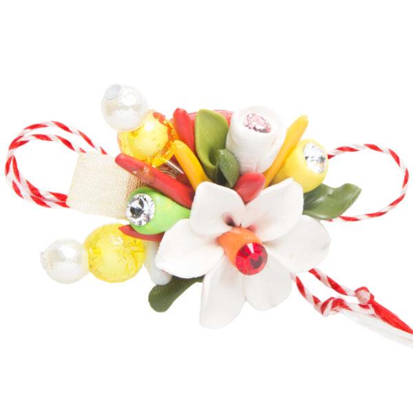Martisor brosa buchet flori, Miidefloriart, model 84