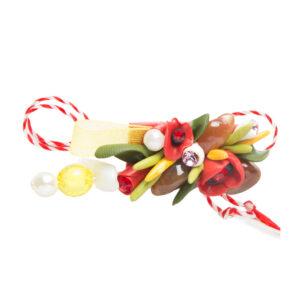 Martisor brosa buchet flori, Miidefloriart, model 85